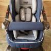 صندلی ماشین کودک زویی اسکلت مشکی با تشک سورمه ای-طوسی